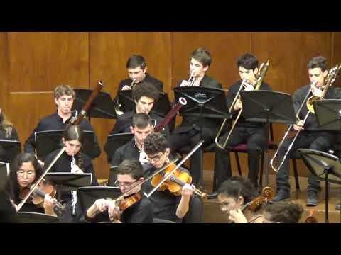 פרק 1, הסימפוניה ה-5 במי-מינור צ'ייקובסקי. התזמורת הסימפונית, תיכון האקדמיה למוזיקה ולמחול, ירושלים