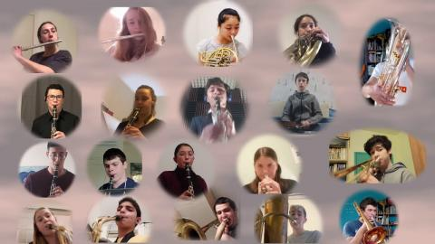 תזמורת כלי הנשיפה הייצוגית של קונסרבטוריון ותיכון האקדמיה בסרטון קורונה שמח במיוחד!